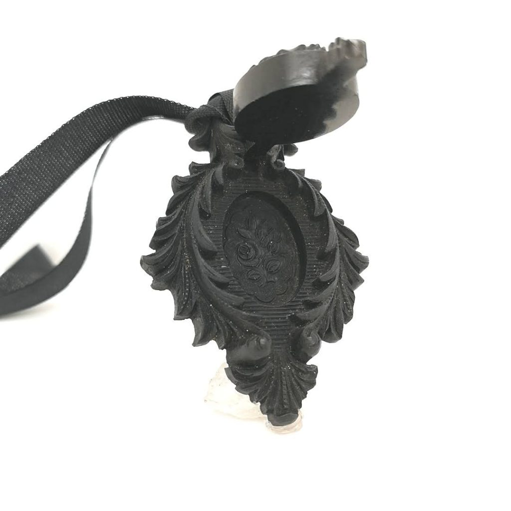 Hinged Vulcanite locket
