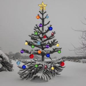 Monkey Puzzle Christmas tree